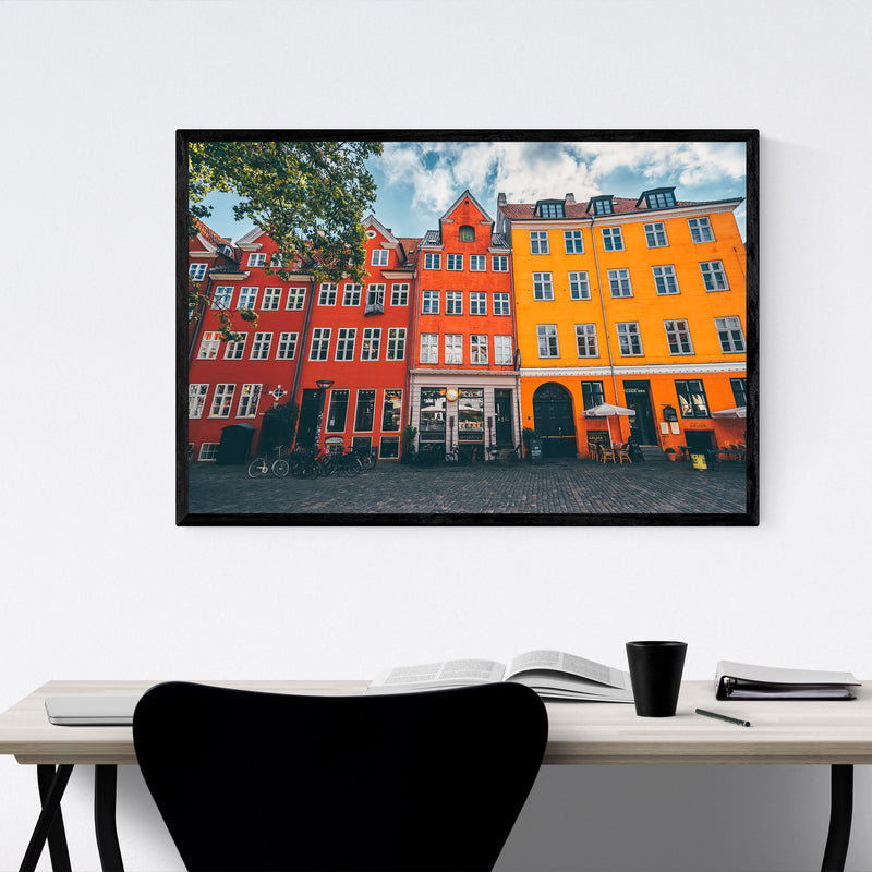 Copenhagen Denmark City Europe Framed Art Print