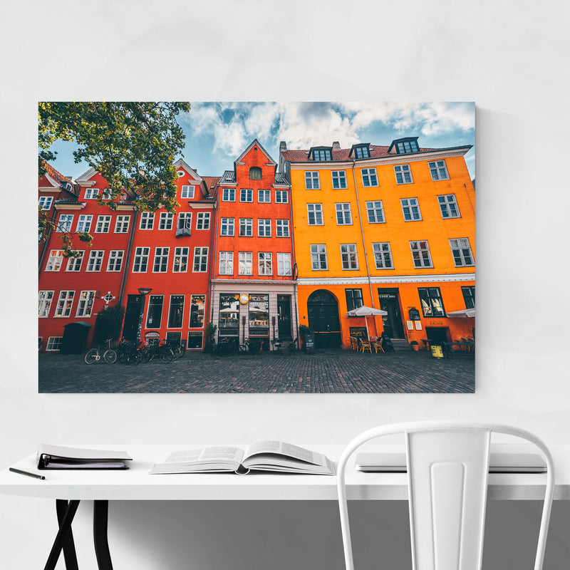 Copenhagen Denmark City Europe Metal Art Print