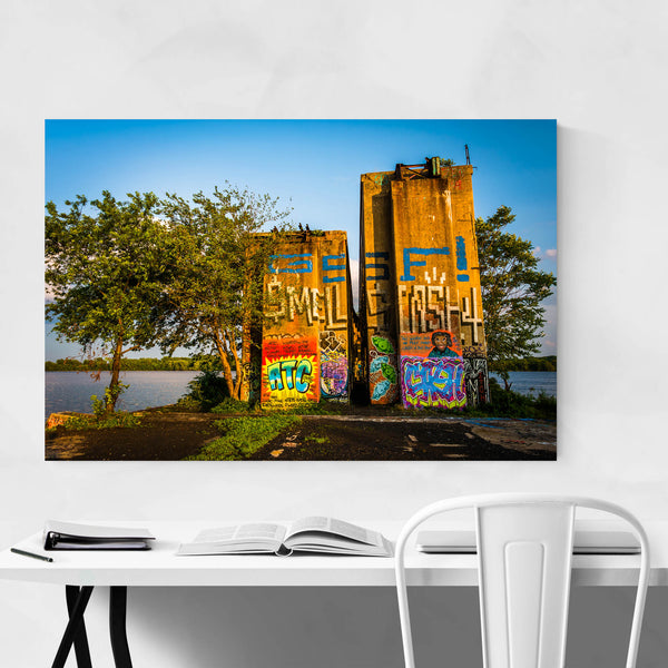 Philadelphia Graffiti Pier Urban Art Print