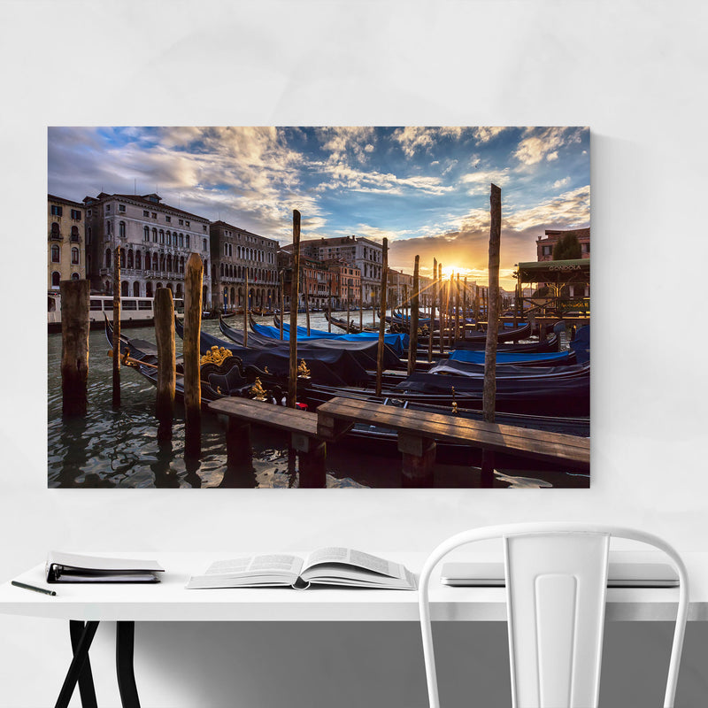 Grand Canal Rialto Bridge Venice Canvas Art Print