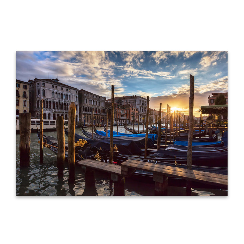 Grand Canal Rialto Bridge Venice Metal Art Print