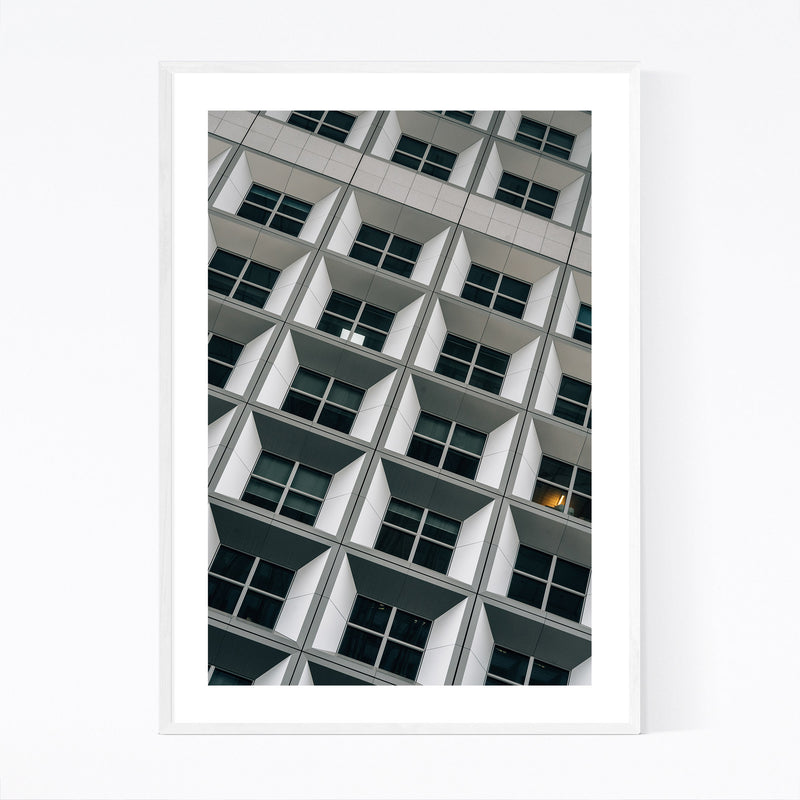 Modern Architecture Paris France Framed Art Print
