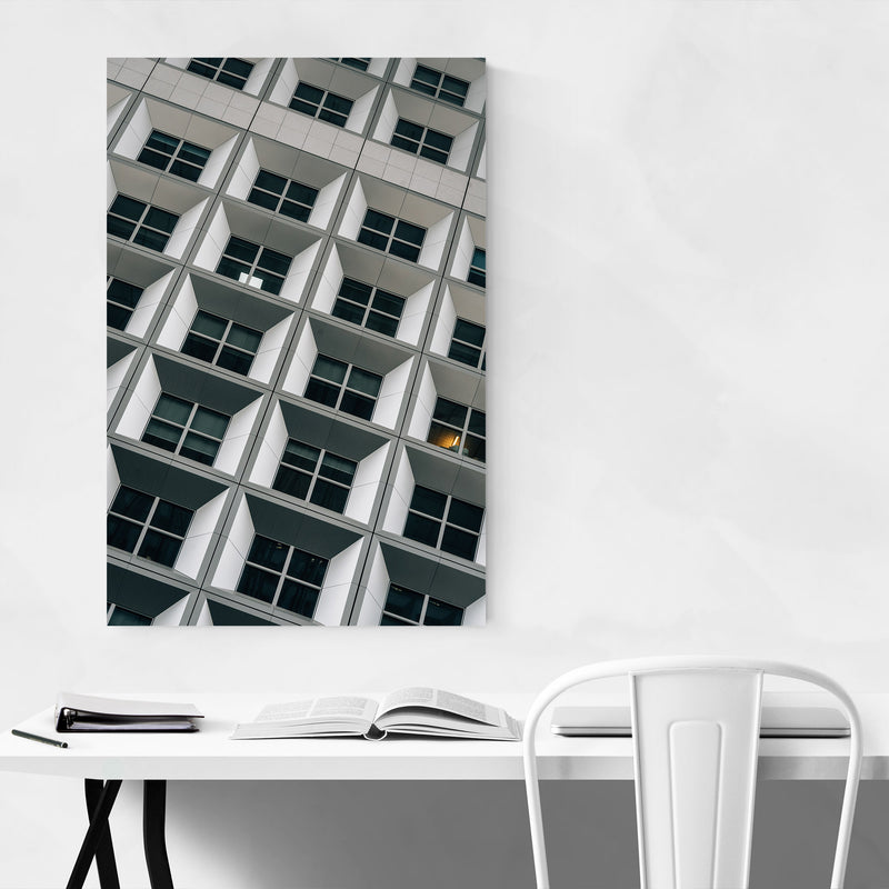 Modern Architecture Paris France Metal Art Print