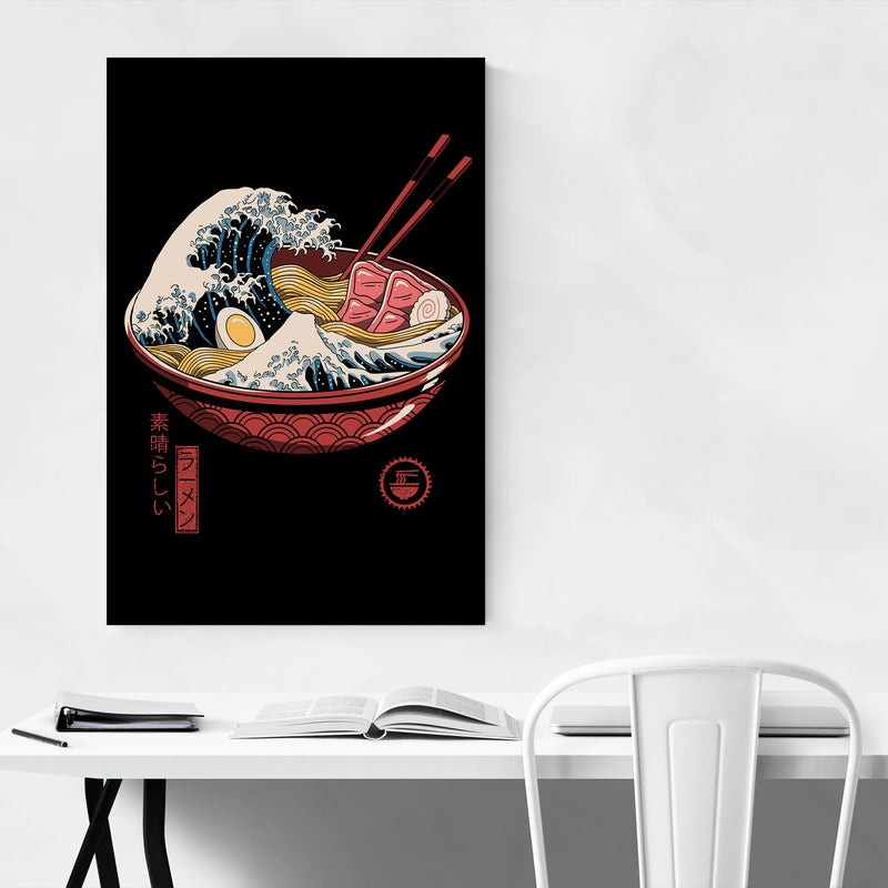 Ramen Wave Japanese Culture Art Print