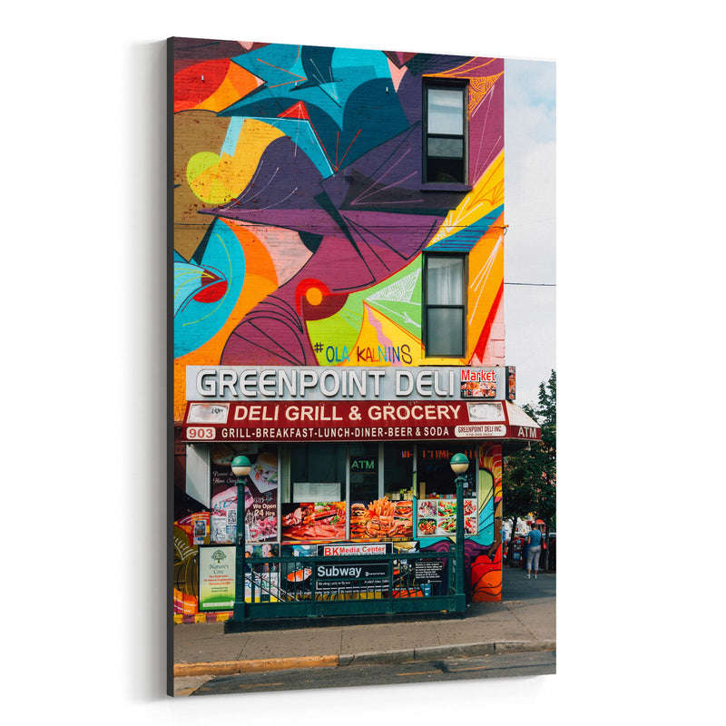Greenpoint Deli Brooklyn NYC Canvas Art Print