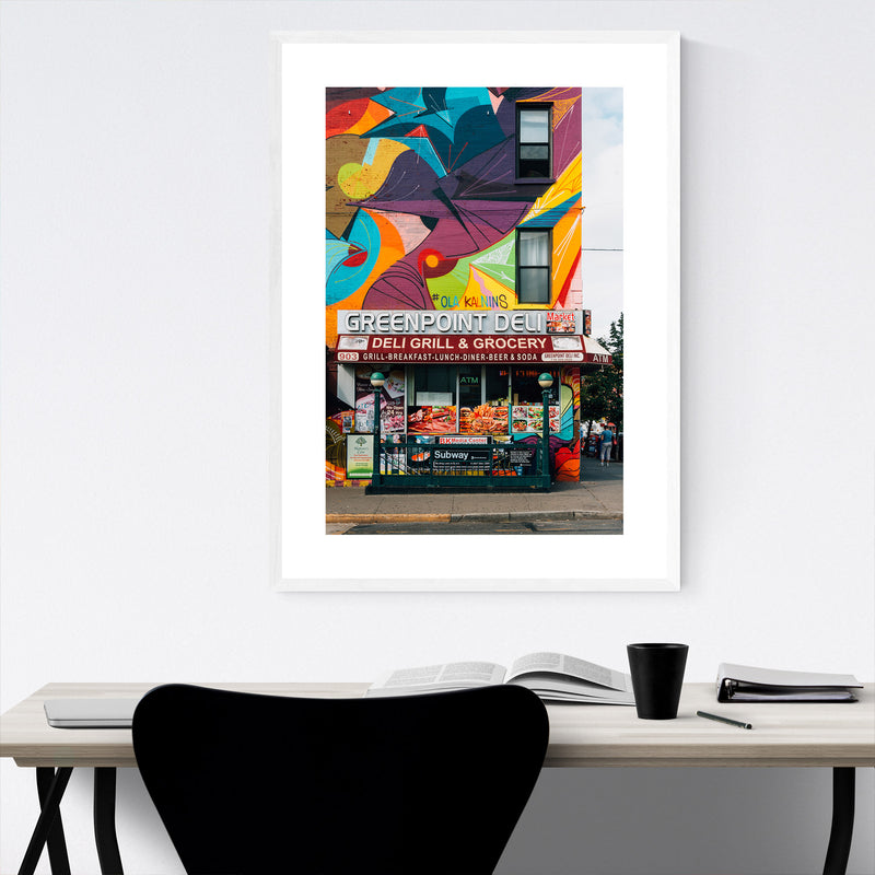 Greenpoint Deli Brooklyn NYC Framed Art Print