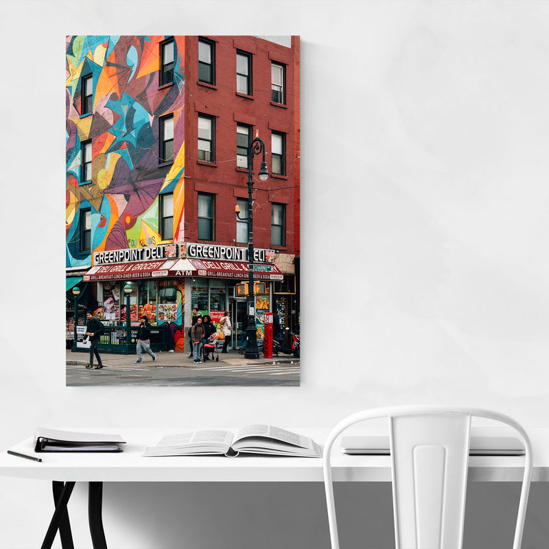 Greenpoint Deli Brooklyn NYC Metal Art Print
