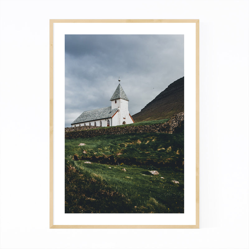 Faroe Islands Landscape Nature Framed Art Print