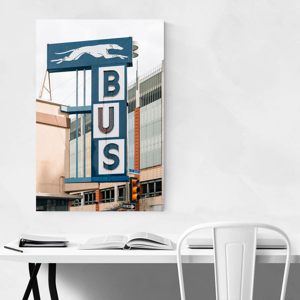 Greyhound Bus Sign San Antonio Art Print