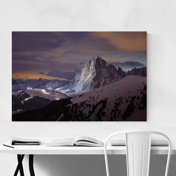 Italy Mountains Landscape View Art Print