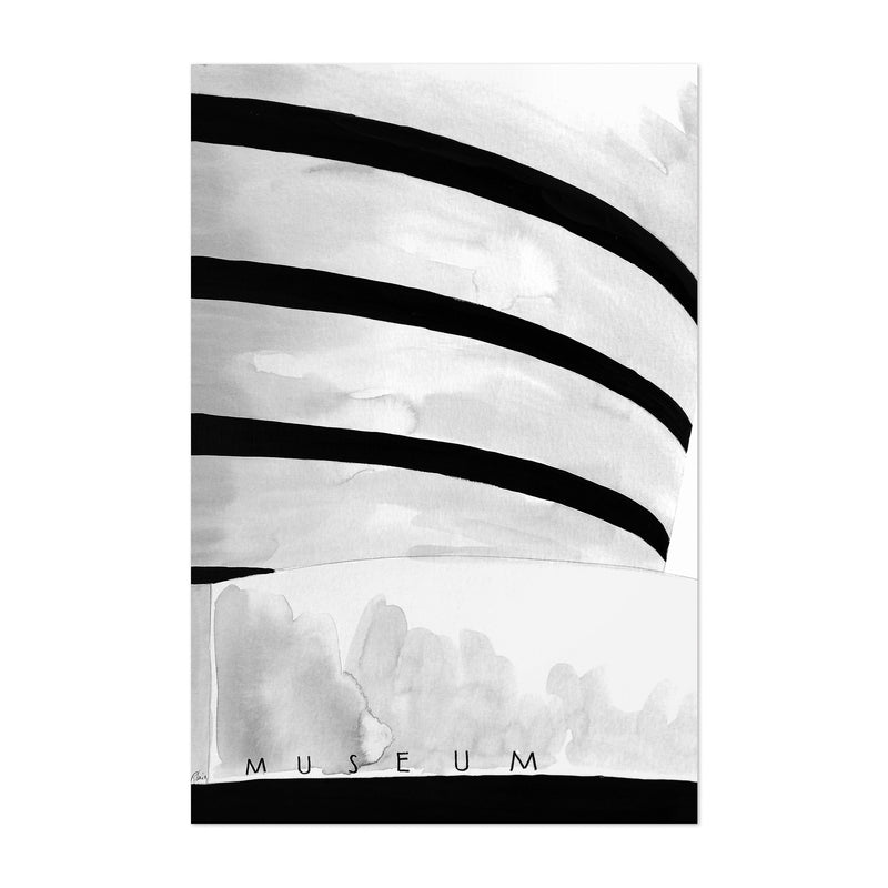 NYC Guggenheim Museum Watercolor Art Print