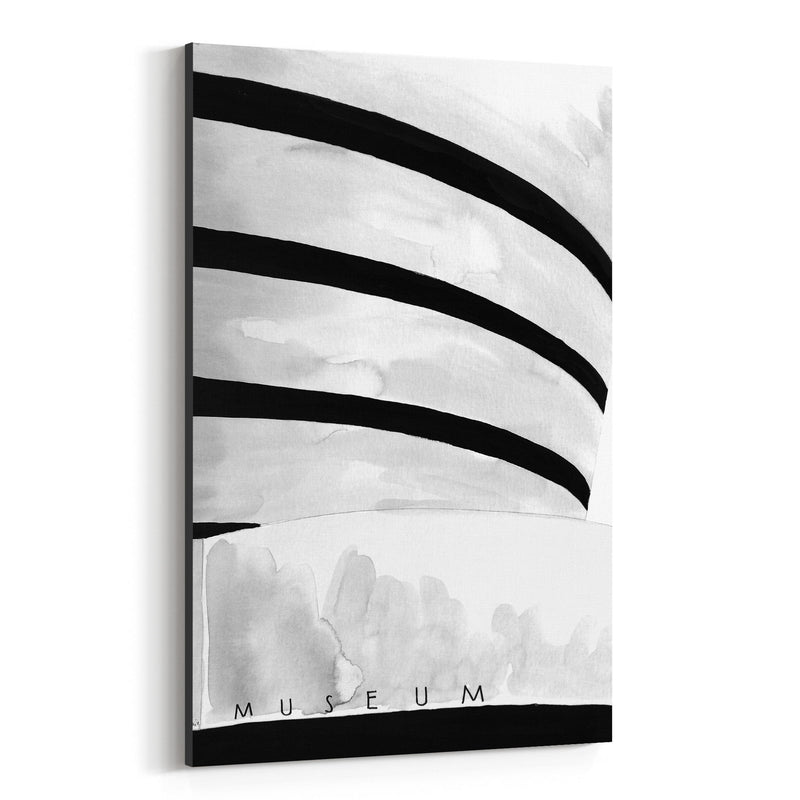 NYC Guggenheim Museum Watercolor Canvas Art Print