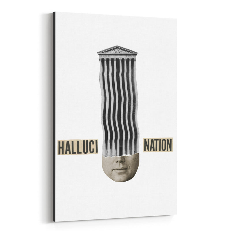 Halucination Typography Collage Canvas Art Print
