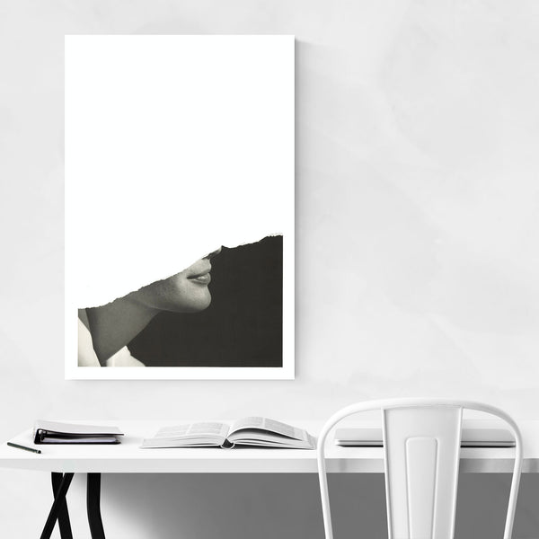 Beautiful Woman Abstract Collage Art Print