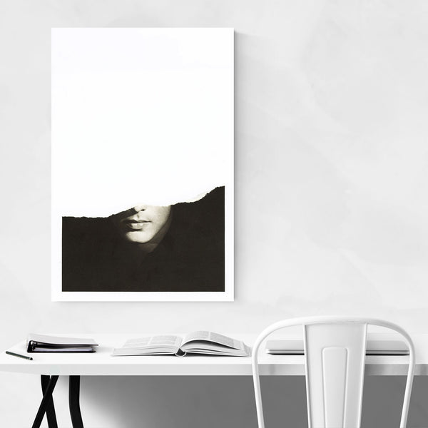 Handsome Man Abstract Collage Art Print