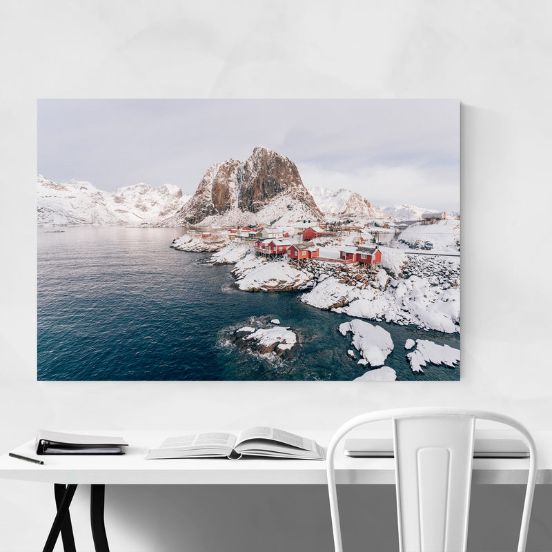Lofoten Norway Nature Photo Metal Art Print