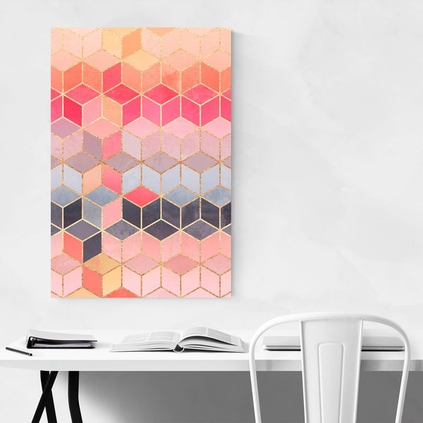 Art Deco Abstract Geometry Art Print