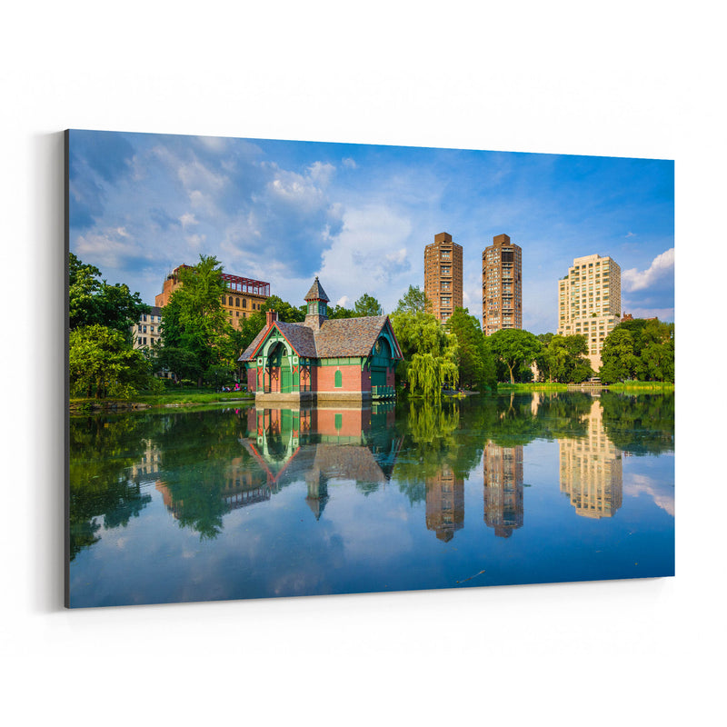 Central Park NYC Harlem Meer Canvas Art Print