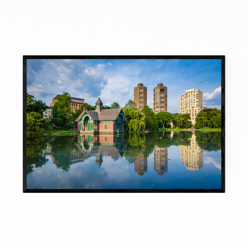 Central Park NYC Harlem Meer Framed Art Print