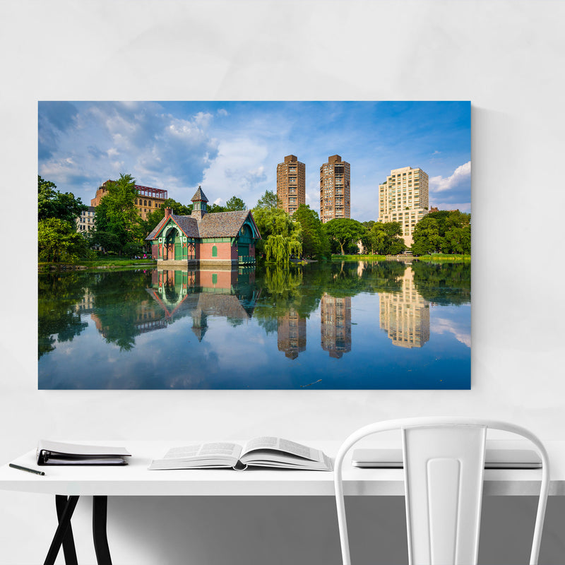 Central Park NYC Harlem Meer Metal Art Print