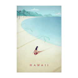 Minimal Travel Poster Hawaii Art Print