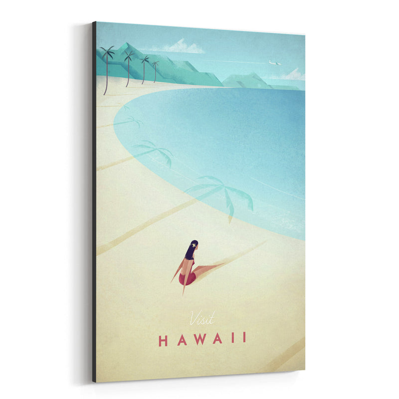 Minimal Travel Poster Hawaii Canvas Art Print