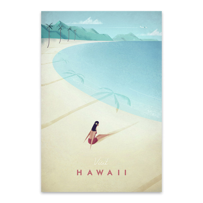 Minimal Travel Poster Hawaii Metal Art Print