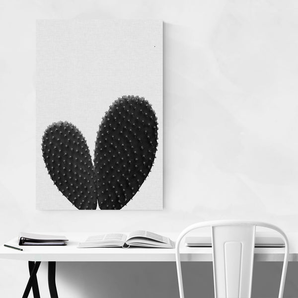 Love Heart Cactus Photography Art Print