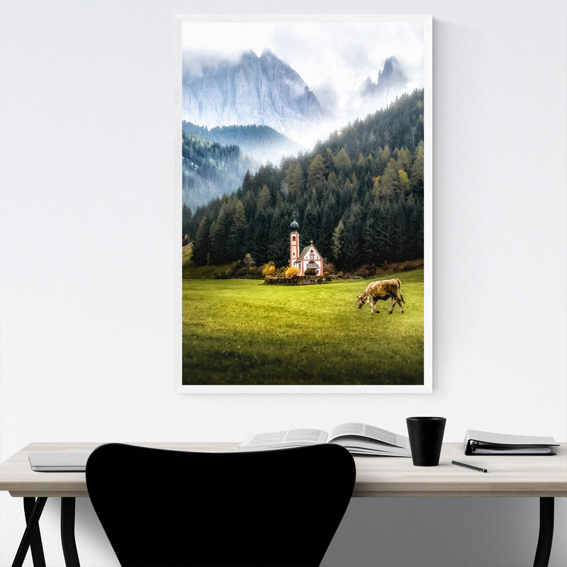 Italy Dolomites Mountains Alps Framed Art Print