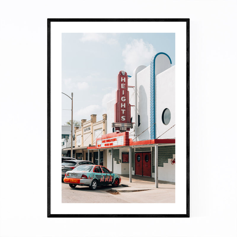 Houston Texas Heights Theater Framed Art Print
