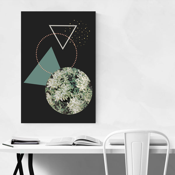 Geometric Abstract Snow Digital Art Print