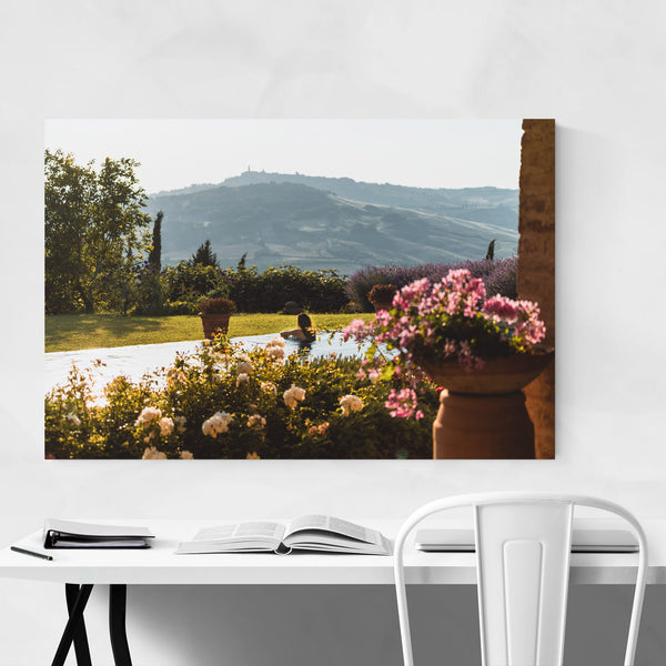 Tuscany Italy Flowers Summer Art Print