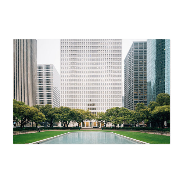 Downtown Houston Texas Cityscape Art Print