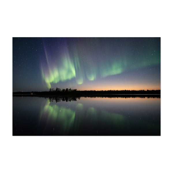 Northern Lights Lapland Finland Art Print