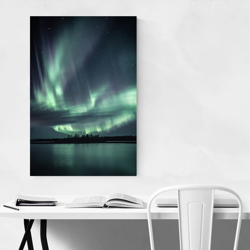 Northern Lights Lapland Finland Canvas Art Print