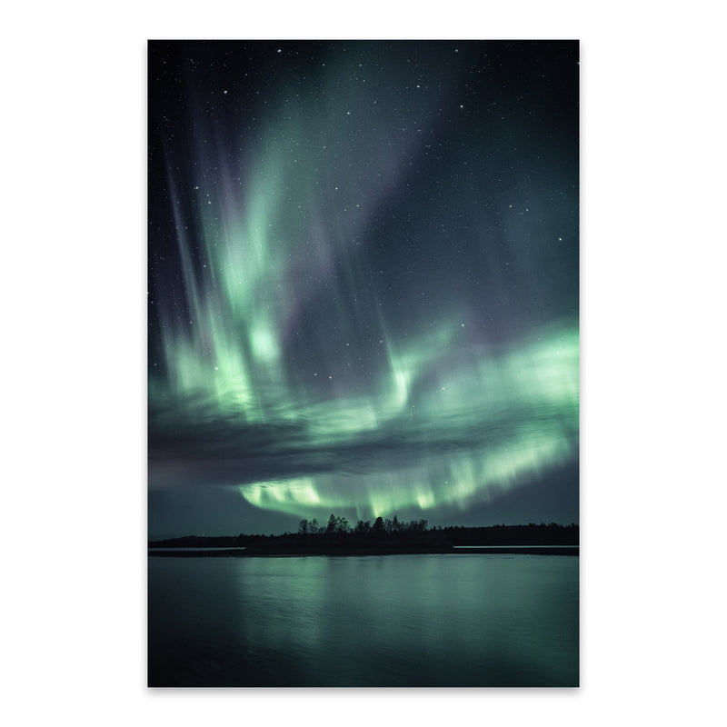Northern Lights Lapland Finland Metal Art Print