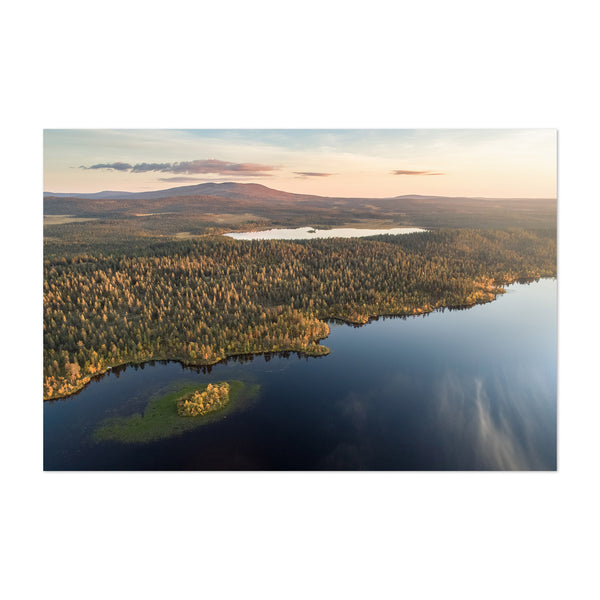 Autumn Lake Lapland Finland Art Print