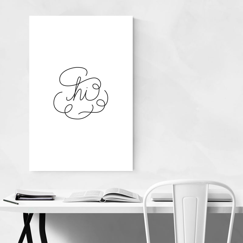 Hello Goodbye Typography Art Print