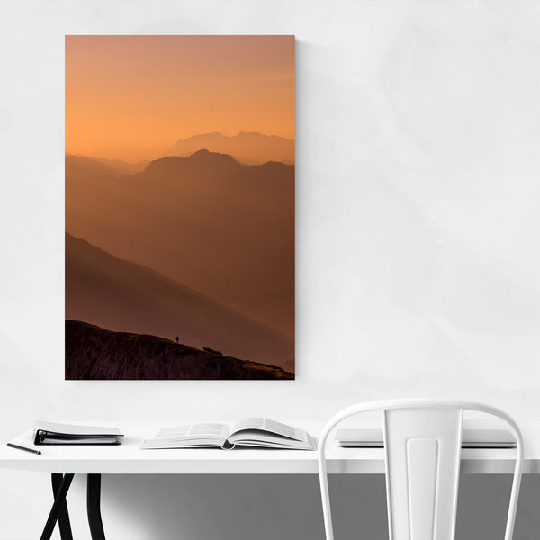 Mountains Landscape Austria Alps Art Print