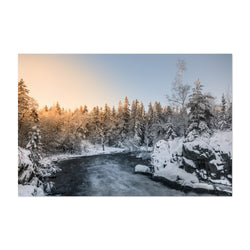 Winter River Landscape Finland Art Print