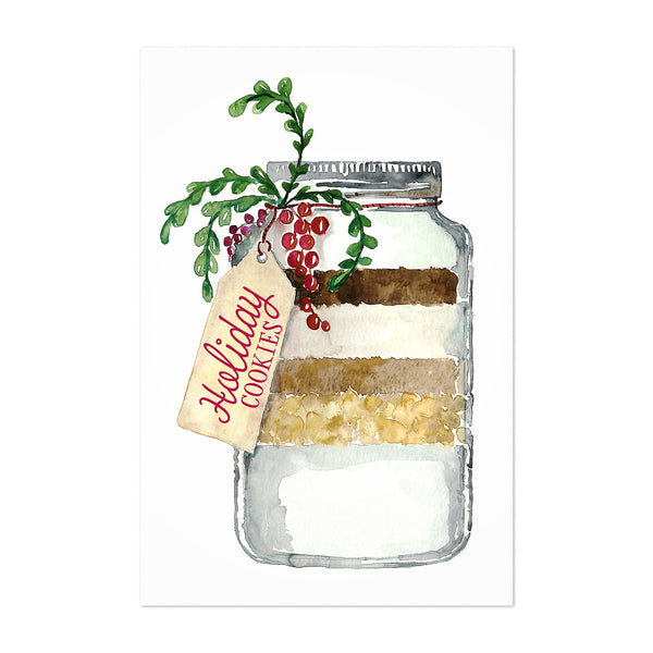 Christmas Holiday Kitchen Cookie Art Print