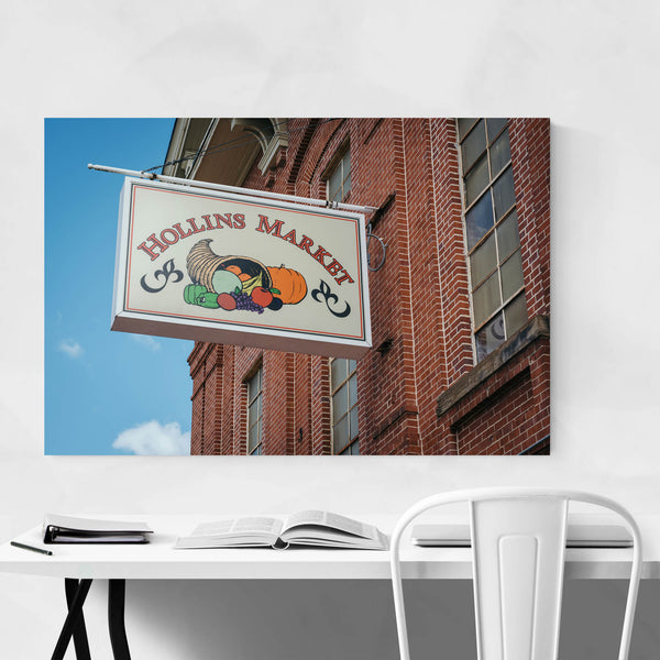 Hollins Market Sign Baltimore MD Art Print
