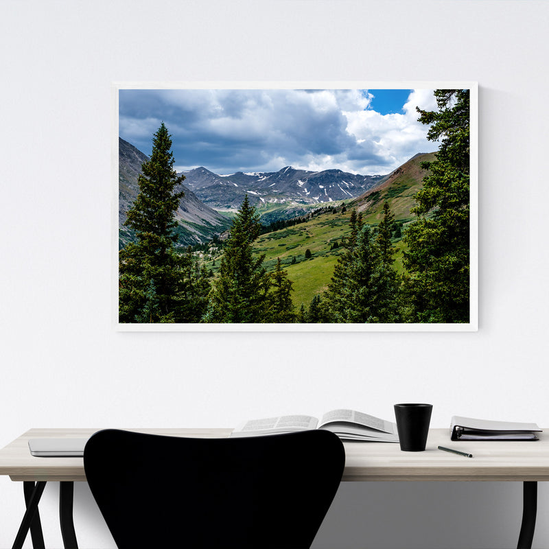 Colorado Rocky Mountains Nature Framed Art Print