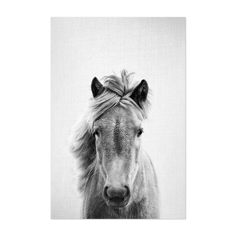Horse Nursery Peeking Animal Art Print