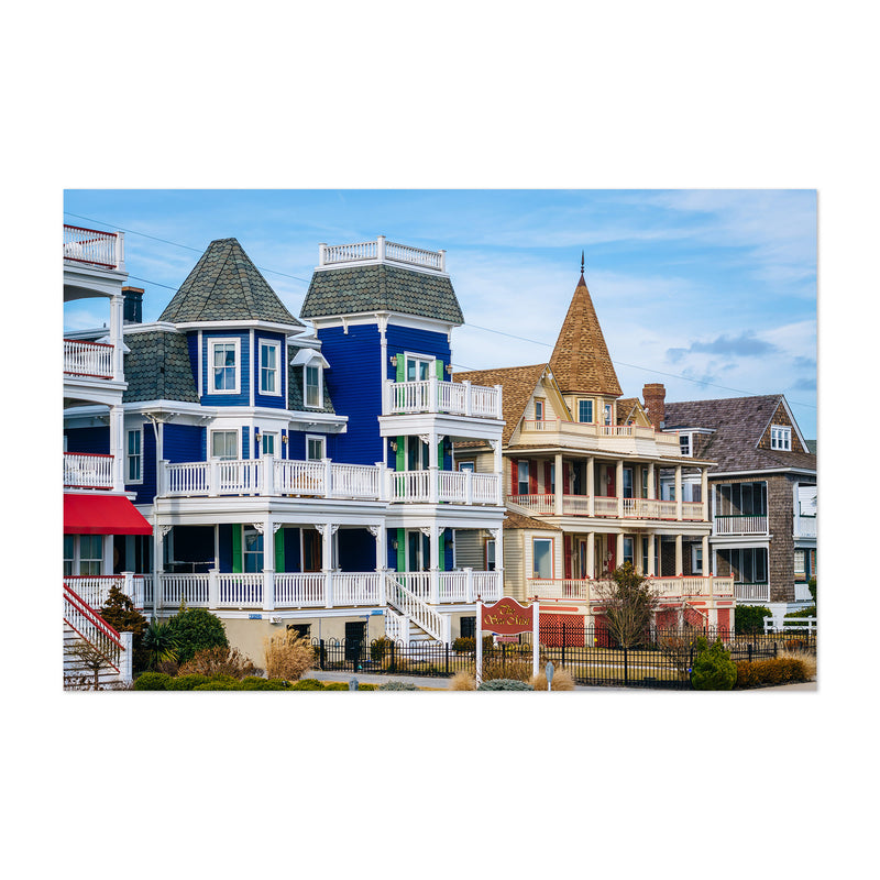 Cape May New Jersey Beach Houses Art Print