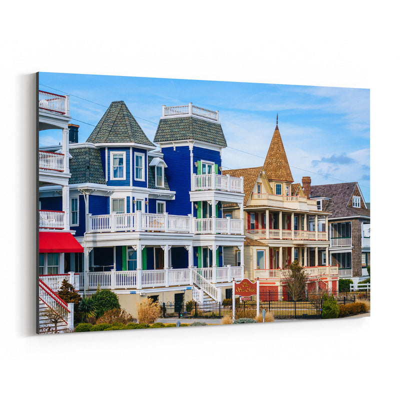 Cape May New Jersey Beach Houses Canvas Art Print