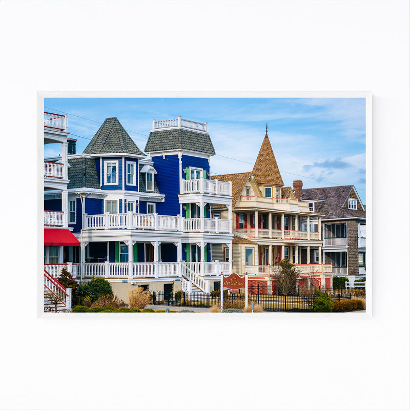 Cape May New Jersey Beach Houses Framed Art Print