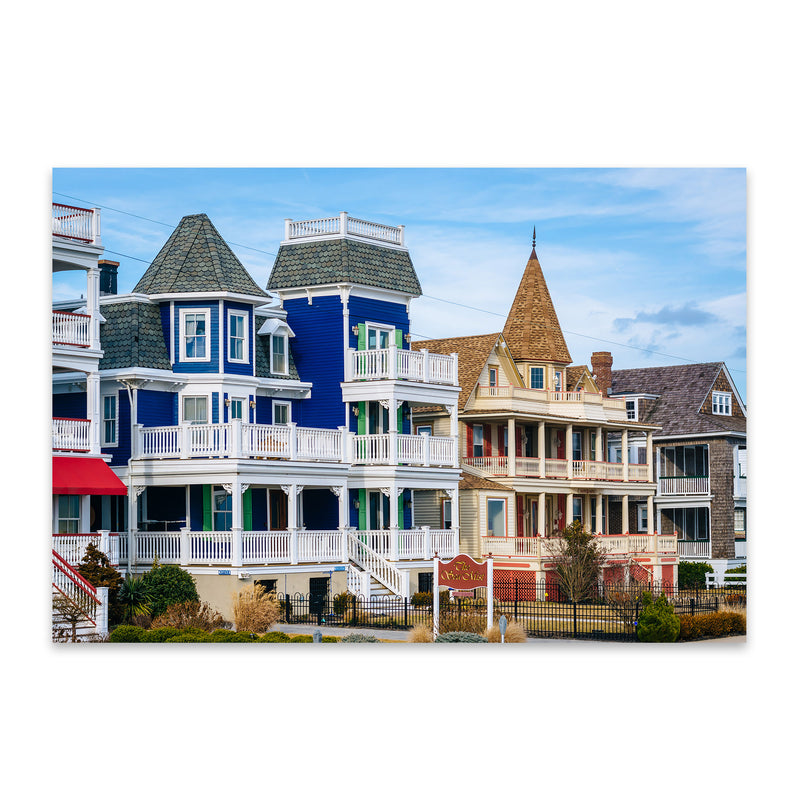 Cape May New Jersey Beach Houses Metal Art Print