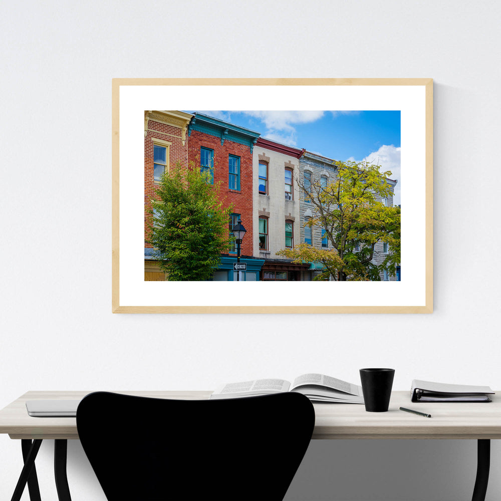 Hollins Market Baltimore MD Framed Art Print
