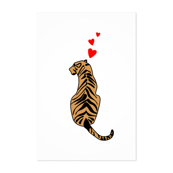 Tiger Heart Minimal Simple Art Print
